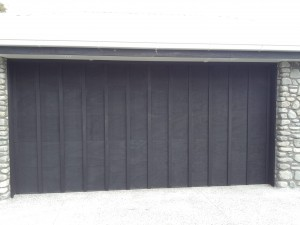 Multi-batten textured ply sectional door